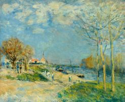 The Banks of the River Seine around Louveciennes | Alfred Sisley | Oil Painting