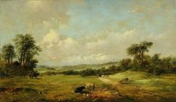 Landscape with Cattle | Alfred Vickers | Oil Painting