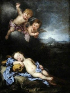 The Infant Christ Asleep on the Cross | BartolomE Esteban Murillo | Oil Painting