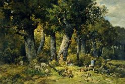 Forest Scene | Charles Emile Jacque | Oil Painting
