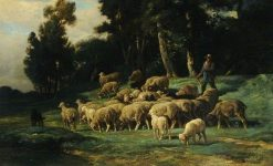 The Flock | Charles Emile Jacque | Oil Painting