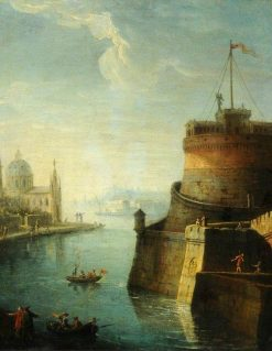 Scene on the Tiber | Claude Joseph Vernet | Oil Painting