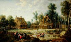 Scene in a Flemish Village | David Teniers II | Oil Painting
