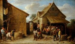 The Yard of an Inn | David Teniers II | Oil Painting