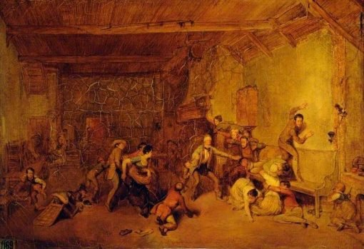 Blind Man's Buff   David Wilkie   Oil Painting