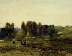 Peat-Gatherers | Herbert Hughes Stanton | Oil Painting