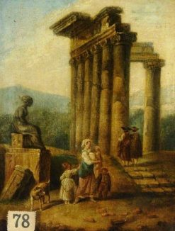 Landscape with Ruins | Hubert Robert | Oil Painting