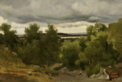 Au Petit Chaville | Jean Baptiste Camille Corot | Oil Painting