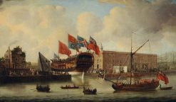Deptford Dockyard | John Cleveley the Elder | Oil Painting