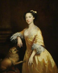 Portrait of a Lady with a Pug Dog | Joseph Highmore | Oil Painting