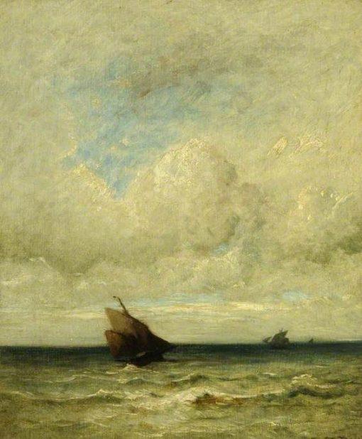 A Stiff Breeze   Jules DuprE   Oil Painting