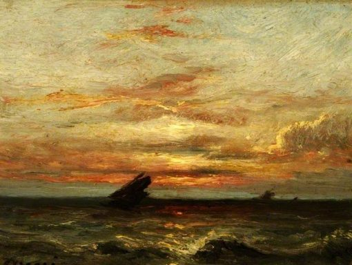 Coucher du soleil (Sunset) | Jules DuprE | Oil Painting