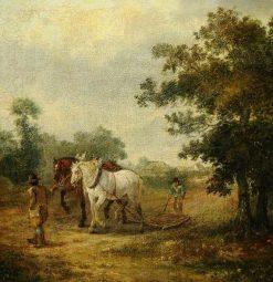 The Harrow   Julius Caesar Ibbetson   Oil Painting