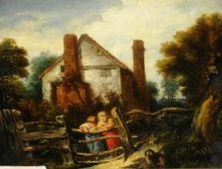 English Cottage Scene | William Collins | Oil Painting