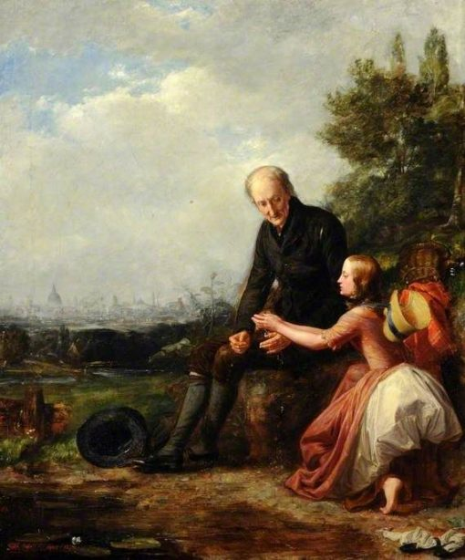 Little Nell and Her Grandfather | William Holman Hunt | Oil Painting