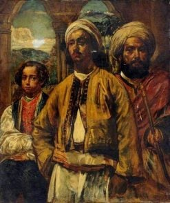 A Moorish Nobleman and His Attendants | William James Muller | Oil Painting