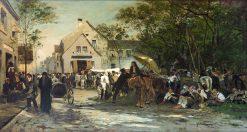 A Russian Market | Hans Feddersen | Oil Painting