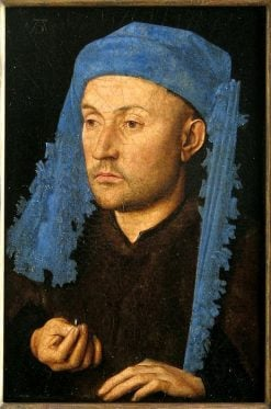 Man with a Ring(also known as Man in a Blue Cap) | Jan van Eyck | Oil Painting