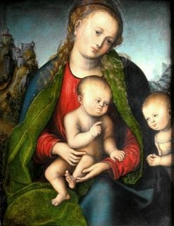 Virgin Mary with the Child and Saint John the Baptist | Lucas Cranach the Elder | Oil Painting