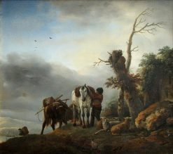 Landscape with Packhorses | Philips Wouwerman | Oil Painting