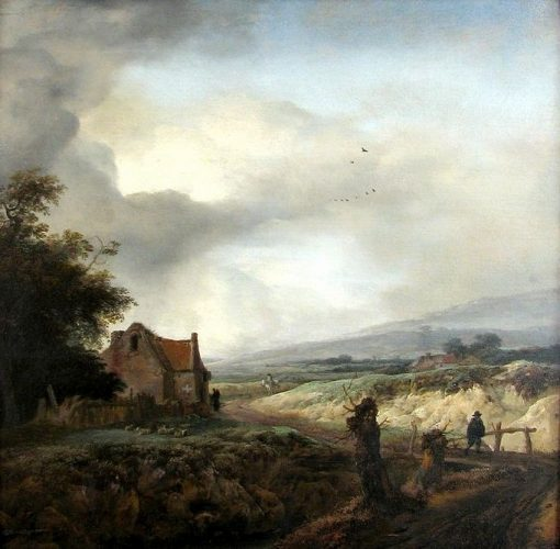 The Small Wooden Bridge | Philips Wouwerman | Oil Painting