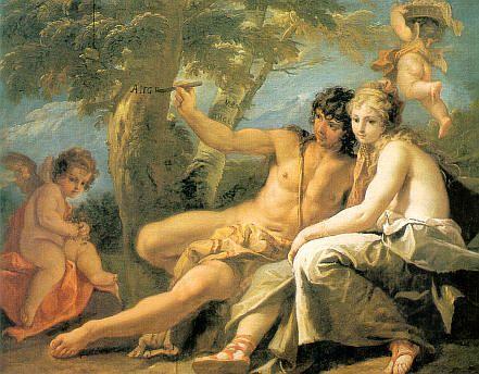 Angelica and Medoro | Sebastiano Ricci | Oil Painting