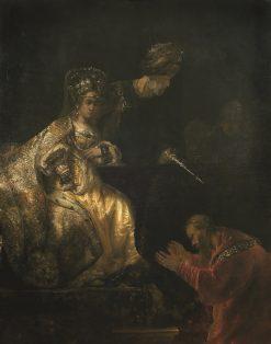 Haman before Esther | Rembrandt van Rijn | Oil Painting