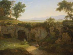 Grotto in Cervara | Johann Christian Reinhart | Oil Painting