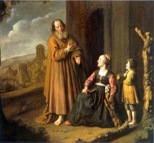 Elijah and the Widow of Zarephath | Jan Victors | Oil Painting