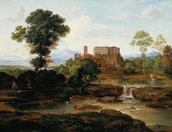 Idealized Italian landscape | Johann Heinrich Ferdinand Olivier | Oil Painting