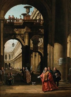 Architectural Capriccio with a Self-Portrait | Bernardo Bellotto | Oil Painting
