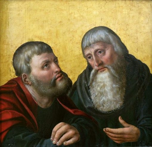 Saint Anthony Abbot and Saint Paul the Hermit | Bernhard Strigel | Oil Painting