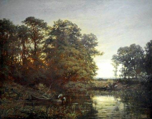 Herons by a Pond | Charles Francois Daubigny | Oil Painting