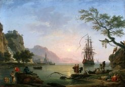 View of a Port (Morning) | Claude Joseph Vernet | Oil Painting