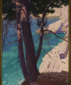 Landscape looking south from Dubrovnika(also known as Pejza? po?udniowy z Dubrownika)   Edward Okun?   Oil Painting