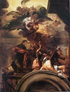 Saint Francis before the Pope | Francesco Solimena | Oil Painting