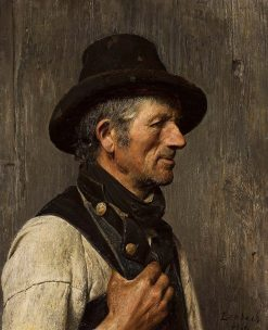 Portrait of a Peasant | Franz von Lenbach | Oil Painting