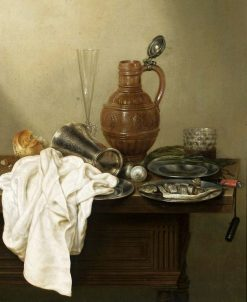 Still Life with a Stoneware Jug | Gerrit Willemsz Heda | Oil Painting