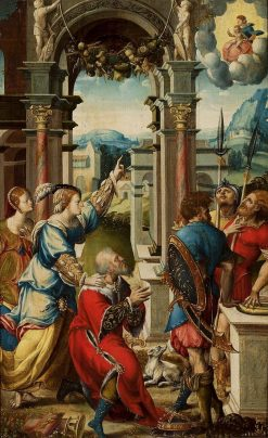 Emperor Augustus and the Sibyl Tibur | Jan van Scorel | Oil Painting