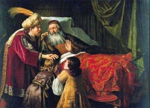 Jacob Blessing the Sons of Joseph | Jan Victors | Oil Painting
