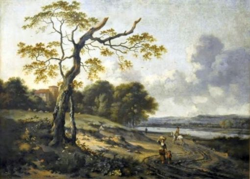 Landscape with a Dying Tree | Jan Wijnants | Oil Painting