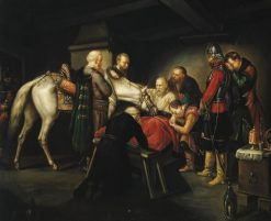 The Death of Czarniecki | Leopold Löffler | Oil Painting