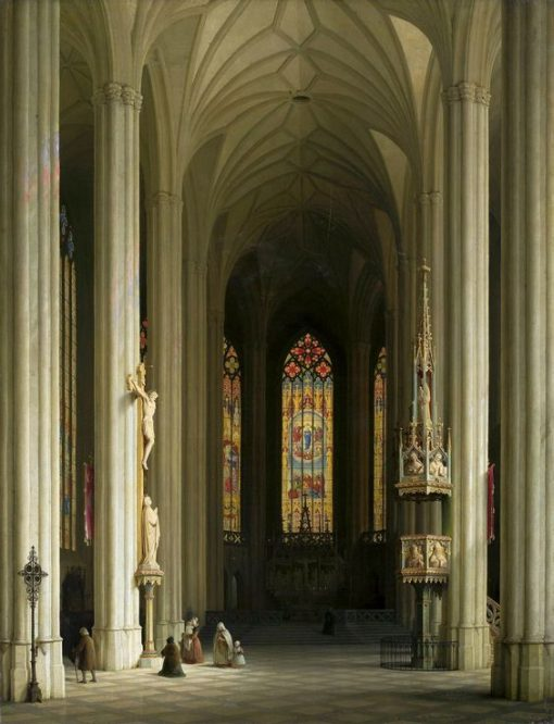Interior of a Gothic Church | Max Emanuel Ainmiller | Oil Painting