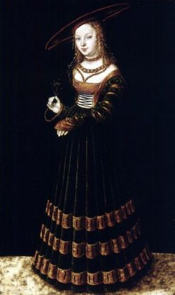 Portrait of a Girl with Forget-me-nots | Lucas Cranach the Elder | Oil Painting
