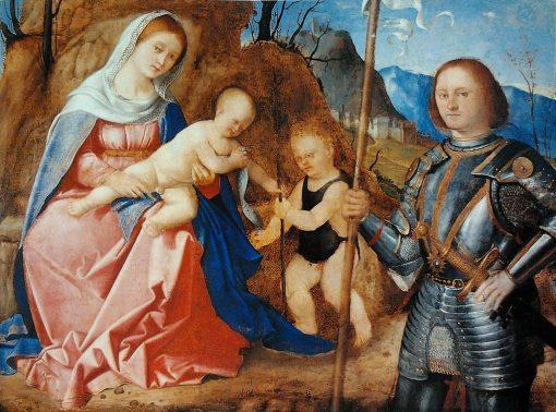 Madonna and Child with Saint John the Baptist and Saint Liberalis   Marco Basaiti   Oil Painting