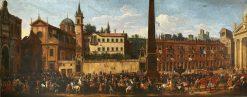 Entry the Polish Ambassador Micha? Kazimierz Radziwi?? into Rome in 1680 | Pieter van Bloemen | Oil Painting