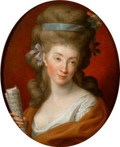 Portrait of Izabela Potocka née Lubomirska as Polyhymnia | Pompeo Batoni | Oil Painting