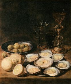 Still Life with Oysters | Alexander Adriaenssen | Oil Painting