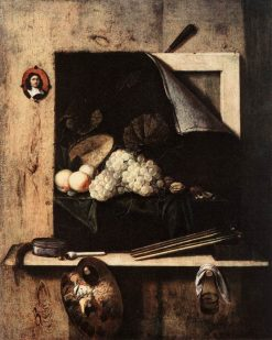 Still Life with Self-Portrait | Cornelis Norbertus Gysbrechts | Oil Painting
