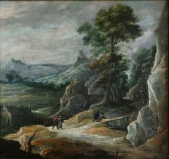 Rocky Landscape with Pilgrims | David Teniers II | Oil Painting